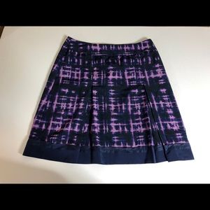 SimplyVera Vera Wang purple and navy skirt